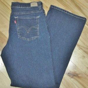 LEVI'S 512 SLIMMING STRETCH BLUE JEANS SZ 14 NEW
